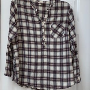 Dress Barn plaid tunic size 1X